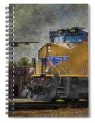 Train Coming Through Spiral Notebook
