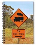 Train Engine Locomotive Sign Spiral Notebook