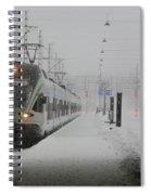 Train In Helsinki Spiral Notebook