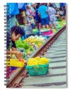 Train Market 2323 Spiral Notebook