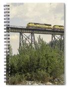 Train On Trestle Spiral Notebook