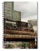 Train - Pittsburg Pa - The Industrial City Spiral Notebook