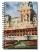 Train Station At Magic Kingdom Spiral Notebook