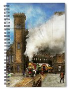 Train Station - Boston And Maine Railroad Depot 1910 Spiral Notebook
