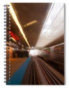 Train Station In Motion Spiral Notebook