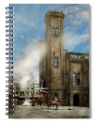 Train Station - Look Out For The Train 1910 Spiral Notebook