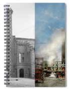 Train Station - Look Out For The Train 1910 - Side By Side Spiral Notebook