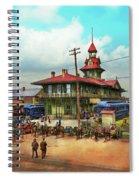 Train Station - Louisville And Nashville Railroad 1912 Spiral Notebook