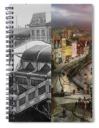 Train Station - Wuppertal Suspension Railway 1913 - Side By Side Spiral Notebook