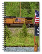 Train The Flags Spiral Notebook