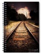 Train Tour Of Darkness Spiral Notebook