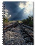 Train Track Junction In Charleston Sc Spiral Notebook
