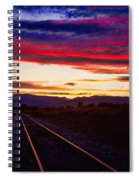 Train Track Sunset Spiral Notebook