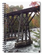 Train Tracks Over The Winnipesaukee River Spiral Notebook