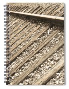 Train Tracks Sepia Triangular  Spiral Notebook