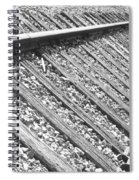 Train Tracks Triangular In Black And White Spiral Notebook