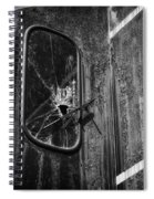 Train Vandalized Black And White Spiral Notebook