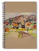 Train Whistle Stop Village  Spiral Notebook