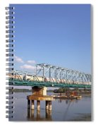 Train With Tank Wagon On Bridge Spiral Notebook