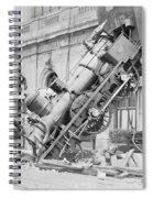 Train Wreck At Montparnasse Station Spiral Notebook