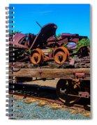 Train Wreckage On Flat Car Spiral Notebook