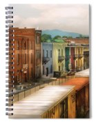 Train - Yard - Train Town Spiral Notebook