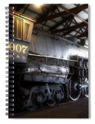 Trains 3007 C B Q Steam Engine Spiral Notebook