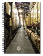 Trains Ancient Iron In The Barn Spiral Notebook