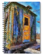 Trains Box Car Yellow Door Pa 02 Spiral Notebook