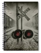 Trains Crossing Spiral Notebook