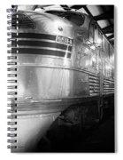 Trains Emd E5 Diesel Locomotive Bw Spiral Notebook