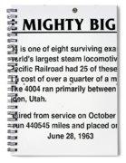 Trains Mighty Big Boy Signage Spiral Notebook
