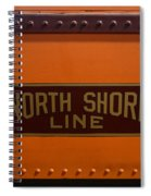 Trains North Shore Line Chicago Signage Spiral Notebook