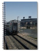Trains Passing The Home Of The Chicago White Sox Spiral Notebook