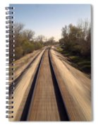 Trains Power Approaching The Crossing Spiral Notebook