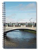Tram On The Sean Heuston Bridge Spiral Notebook