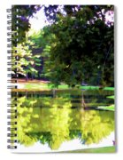 Tranquil Landscape At A Lake 1 Spiral Notebook