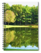 Tranquil Landscape At A Lake 2 Spiral Notebook