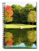 Tranquil Landscape At A Lake 3 Spiral Notebook