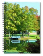 Tranquil Landscape At A Lake 4 Spiral Notebook
