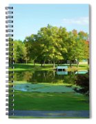 Tranquil Landscape At A Lake 5 Spiral Notebook