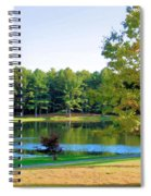 Tranquil Landscape At A Lake 6 Spiral Notebook