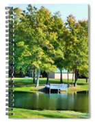 Tranquil Landscape At A Lake 8 Spiral Notebook