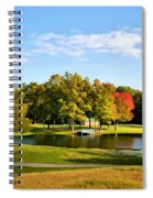 Tranquil Landscape At A Lake 9 Spiral Notebook