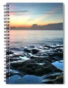 Tranquil Sunrise At Coral Cove Beach Spiral Notebook