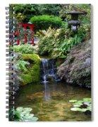 Tranquility In A Japanese Garden Spiral Notebook