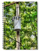 Transformer And Power Lines Spiral Notebook