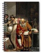 Transition From Alchemy To Chemistry Spiral Notebook