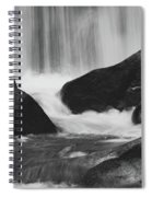 Trap Falls In Ashby Ma Black And White 6 Spiral Notebook
