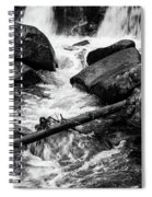 Trap Falls In Ashby Ma Black And White 9 Spiral Notebook